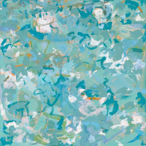Sparkling Pond  SOLD 30 x 30